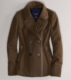 AE Double-Breasted Peacoat(American Eagle- The black in this jacket is Addorable!!!!!) This my Dream Jacket!!!!!!!!!!!!!!!