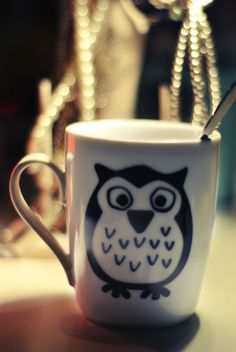 Owl Mug - I actually have this cup!