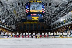Find things to do in winter, and all season in the Ann Arbor area, like watching a hockey game at Yost Ice Arena. Stuff To Do, Things To Do, Hockey Games, University Of Michigan, Ann Arbor, Ice, Urban, Seasons, Winter