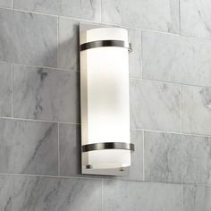 """Brushed Nickel And Etched Opal 17 1/4"""" High Wall Sconce - #64506 