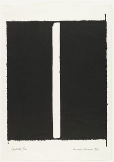 Barnett Newman ~ Canto III from 18 Cantos, 1963 (lithograph) Robert Henri, Barnett Newman, Ellsworth Kelly, Etching Prints, Colour Field, Contemporary Abstract Art, Mark Rothko, Sculpture, American Artists