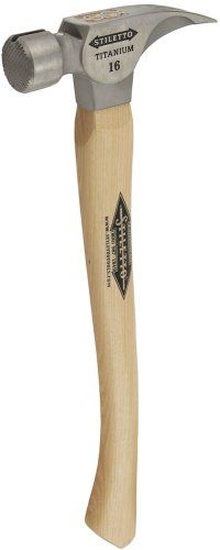 "Stiletto Ti16MC Ti 16 Milled  Face Hammer with a Curved 18"" Hickory Handle"