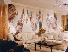 Trompe L'oeil, mural, classical, wallpaper