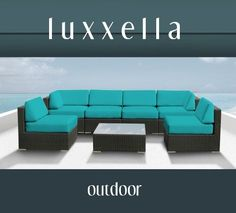 This is the winner!    Genuine Luxxella Outdoor Patio Wicker Sofa Sectional Furniture BELLA 7pc Gorgeous Couch Set TURQUOISE by Luxxella, http://www.amazon.com/dp/B009MCK1MO/ref=cm_sw_r_pi_dp_01SDrb18DAH20