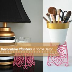 Paint planter as decorating