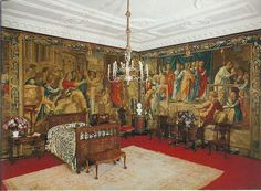 The Dukes Bedroom at Woburn Abbey with Mortlake tapestries Woburn Abbey, The Royal Collection, Old Master, Duke, Tapestry, Mansions, Architecture, Castles, Buildings