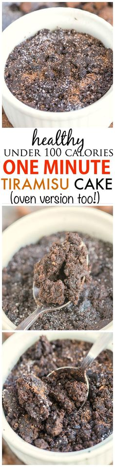 Healthy 1 Minute Tiramisu Cake- Less than 100 calories, fluffy and moist- this delicious tiramisu cake is gluten free and comes with a tested vegan, high protein and paleo option- Oven version too! #tiramisu #coffee #cake