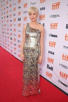 Toronto Film Festival 2016: Michelle Williams in a Louis Vuitton asymmetric…