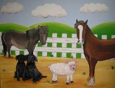 farmyard nursery canvas - www.custommurals.co.uk