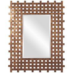 Howard Elliott Burma Square Mirror  13256