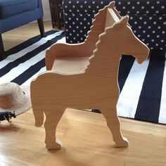 Children's Pony Chair, for Playroom or Nursery. Click through for more info.