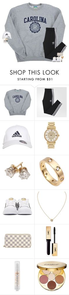 """""""win more than you lose. make more than you miss. improve as much as you can."""" by maggie-prep ❤ liked on Polyvore featuring Champion, adidas, Michael Kors, Cartier, adidas Originals, Louis Vuitton, MILK MAKEUP and tarte"""