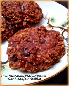 PB2 Chocolate Peanut Butter Oat Breakfast Cookies