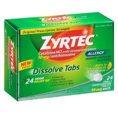 Zyrtec Allergy, Dissolve Tabs Citrus, 24.0ea $ 22.09