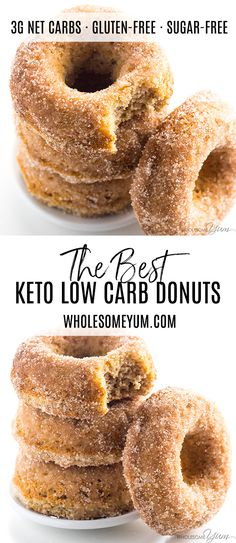 No carb diets 331647960060727633 - Low Carb Donuts Recipe – Almond Flour Keto Donuts (Paleo, Gluten Free) – This keto low carb donuts recipe is made with almond flour. They're even paleo, gluten-free, and easy using common ingredients! Low Carb Donut, Paleo Donut, Keto Donuts, Low Carb Keto, Donuts Donuts, Healthy Donuts, Keto Cookies, Chip Cookies, Low Carb Desserts