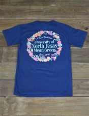 Spring is here! Show your love for the University of North Texas in this new Floral UNT Mean Green Comfort Color t-shirt! Go Mean Green!