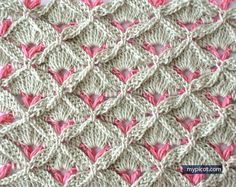 Crochet textured stitch -- MyPicot | Free crochet patterns