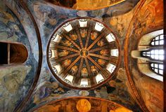 'One of the domes in Chora church' by Hercules Milas Byzantine Art, Hagia Sophia, Early Christian, Hercules, Art Boards, Framed Art Prints, Mosaic, Museum, Artwork