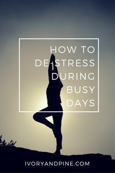How to de-stress during busy days | Self care | Mental Health