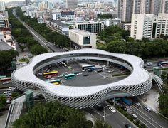pedestrian bridge in Shenzhen, China