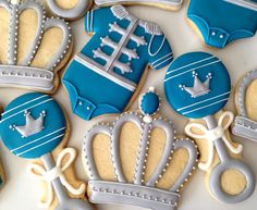 .Oh Sugar Events Royal Little Prince Cookies