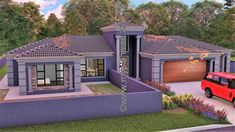 4 Bedroom House Plan – My Building Plans South Africa Round House Plans, Split Level House Plans, Tuscan House Plans, Square House Plans, Metal House Plans, My House Plans, Modern Floor Plans, Home Design Floor Plans, Modern House Plans