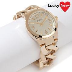 "R.J. Graziano ""Luxury Class"" Bold Curb Link Bracelet Watch at HSN.com."