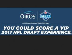 Fuel your love of the game with exciting prizes. Enter for a chance to win a $2,750.00 trip for two to the 2017 NFL Draft including roundtrip airfare to Philadelphia and hotel accommodations. You could also win a $50 NFLshop.com gift card. Complete...
