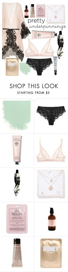 """""""treat yourself"""" by tris-maelynn ❤ liked on Polyvore featuring Rosamosario, Bobbi Brown Cosmetics, Calvin Klein Underwear, Aesop, Miss Selfridge, Kocostar, Isla Apothecary, Grown Alchemist and Lapcos"""