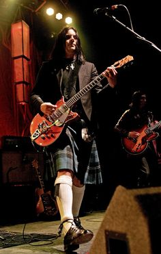 Jack White in a kilt. What more could a girl ask for?