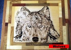 Wolves in Hiding by WoodFARTS on Etsy