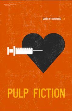 Pulp Fiction (1994) ~ Minimal Movie Poster by Kevin Keeton #amusementphile