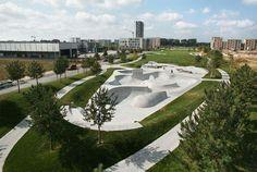 *스포츠 파크 [ WES Landscape Architecture ] The Sports Park, Bremen Park Landscape, Urban Landscape, Landscape Architecture, Landscape Design, Wetland Park, Sport Park, Landscape Materials, Landscaping Supplies, Skate Park