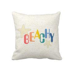 ~ Beachy (bright) throw pillows ~ http://www.zazzle.com