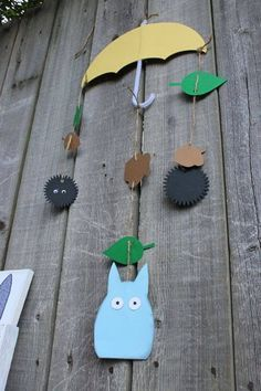 Alondra Im going to attempt to do this. Easy piecie My Neighbor Totoro party decorations por onecraftyfoxx en Etsy Crafts To Make, Crafts For Kids, Diy Crafts, Studio Ghibli, My Neighbor Totoro, 3rd Birthday Parties, Party Time, Projects To Try, Hayao Miyazaki