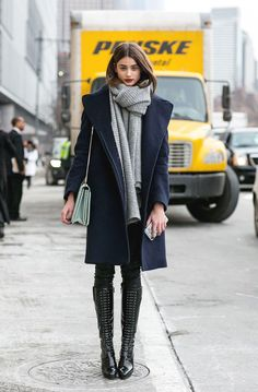"runwayandbeauty: ""Taylor Marie Hill outside Phillip Lim Fall 2015, New York Fashion Week. """