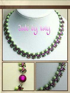 Soutache Jewelry, Beaded Jewelry, Beaded Necklaces, Jewelry Patterns, Beading Patterns, Pearl Necklace Designs, Jewelry Boards, Beading Tutorials, Bead Weaving