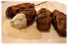 Chicken Kofta kebabs are perfect if you're not keen on lamb - drizzle or dip with the garlic cucumber sauce included