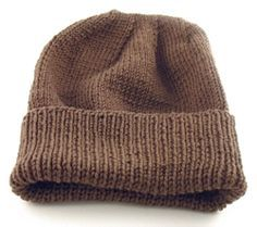 Easy-to-Knit Hat (Suitable for Soldiers/Troops deployed to cold climates)