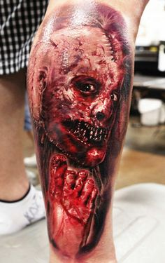 Tattoo Artist - Seunghyun Jo / Potter - horror tattoo - www.worldtattoogallery.com