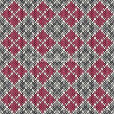Вязаные бесшовный фон в стиле fair isle — стоковая иллюстрация #56380967