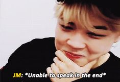 """jimin trying so hard to express his feelings after winning the daesang ;; """