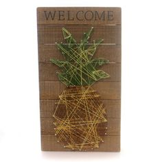 Home Decor Welcome String Art Home Decor Height: 18 Inches Material: Wood Type: Home Decor Brand: Home Decor Item Number: Home Decor 30456 Catalog ID: 29085 New. Measures:18.0 In. H X 10.0 In. W X 2.0