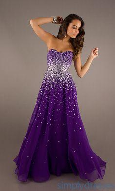 Full Length Strapless Dress, Mori Lee Prom Gowns - Simply Dresses