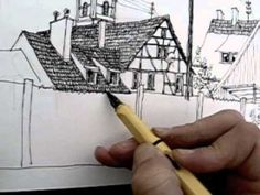Rob Carey Outdoor Sketching: Wollbach #2. One of my favourite sketchbook artists.