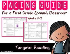 Second 6 Weeks Of School Reading Pacing Guide Spanish Teacher Pay