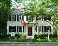 "Childhood home in Falmouth, Mass. of Katharine Lee Bates who wrote ""America the Beautiful"" in 1893."