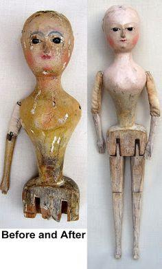 Interesting Antique Textiles: 'Old Pretender Dolls', 17th & 18th century Antique Doll Restoration