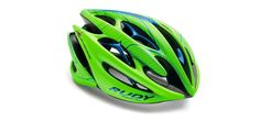 Rudy Project Cycling Helmet - STERLING LIMITED EDITION FLUO HELMET GREEN / BLUE SMALL / MEDIUM