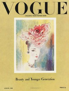 British Vogue, August 1945. Sketch: Cecil Beaton.